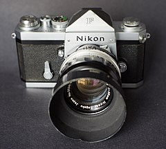 Nikon F with plain finder & 50mm f1.4 (6704353959).jpg