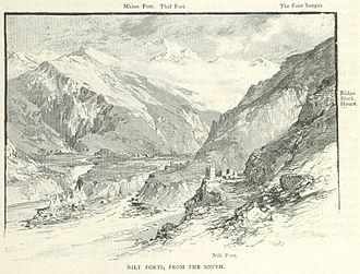 Hunza–Nagar Campaign - The forts at Nilt