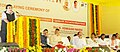 Nitin Gadkari addressing at the foundation stone laying ceremony of 6 lane Durgamma Gudi Flyover, upgradation of 32.7 km of NH 30 and Upgradation of 26.15 km of NH 216, in Vijayawada.jpg