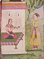 Noble arriving to see a seated woman (6125127976).jpg