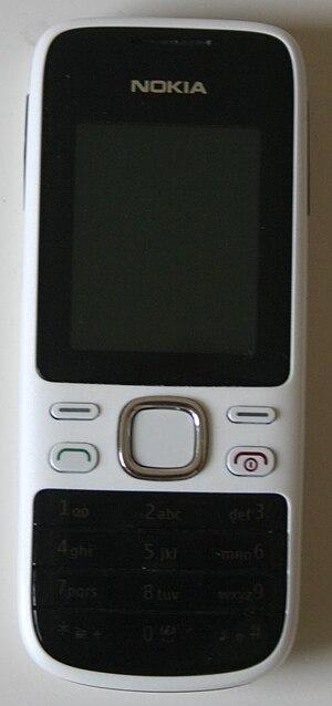 Nokia 2690 - A Nokia 2690 mobile phone with a white casing