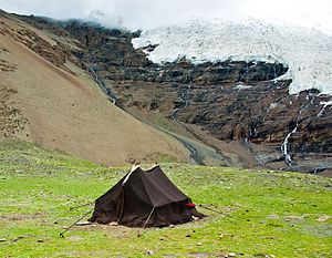 English: Tent of Nomads in Tibet