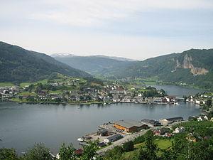 Kvam - View of the village of Norheimsund