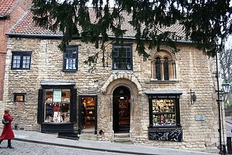Aaron of Lincoln - Norman House – frontage on Steep Hill