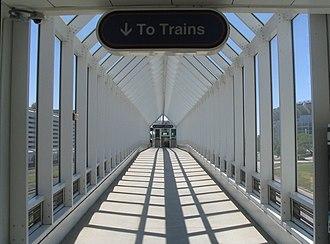 East 9th–North Coast station - Image: North Coast Cleveland RTA station 3
