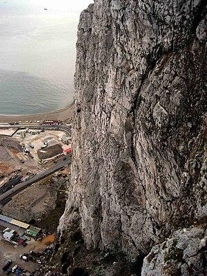Gibraltar Limestone - North face of the Rock of Gibraltar