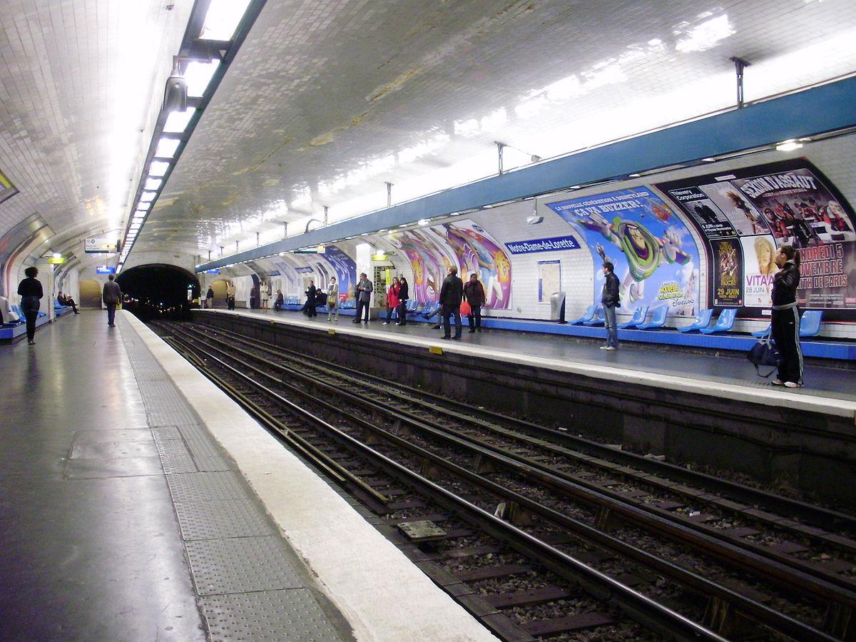 Notre dame de lorette paris m tro wikipedia - Metro notre dame de lorette ...
