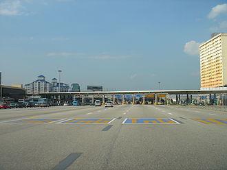 Touch 'n Go - Specialised Touch 'n Go lanes are provided at toll plazas in Malaysian Highways.