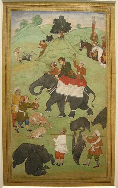 File:Nswag, india del nord, jahangir come il principe salim che torna da una battuta di caccia, 1600-1604.JPG