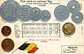 Numismatic postcard from the early 1900's - Belgium 01.jpg