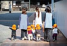 Kindergarten Children In Kyoto