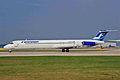 OH-LMX MD-82 Finnair MAN 29MAR02 (7157885338).jpg