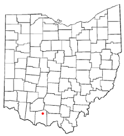Location of Peebles, Ohio