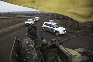 Organization for Security and Co-operation in Europe - OSCE SMM monitoring the movement of heavy weaponry in eastern Ukraine