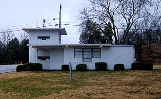 Oak Ridge gatehouses - Gatehouse on Oak Ridge Turnpike on west side of Oak Ridge, intended to control access to the K-25 Site