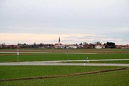 Oberding, seen from Aufkirchen power plant