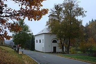Oborná Village in Moravian-Silesian Region, Czech Republic