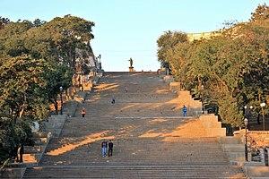 Potemkin Stairs - Potemkin Stairs in Odessa, Ukraine.