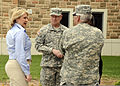Oklahoma Gov. Mary Fallin, left, discusses tornado damage with U.S. Army Maj. Gen. Myles Deering, right, the adjutant general for Oklahoma, Gen. Frank Grass, center, the chief of the National Guard Bureau 130528-Z-TK779-050.jpg