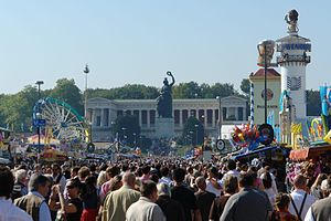 Bavaria statue overlooking the Oktoberfest.