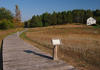 Crow Wing State Park - Townsite of Old Crow Wing, with the Clement Beaulieu House in the distance
