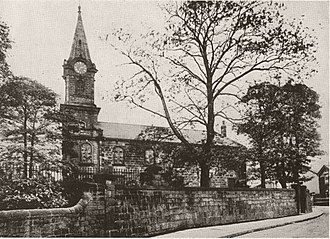 St Matthew's Church, Chapel Allerton - The former St. Matthew's Church in 1911 seen after its replacement.  During this period it was used for meetings.  It was demolished in 1935.
