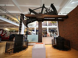 Science Museum, London - Old Bess, A surviving example of a steam engine made by James Watt, in 1777.