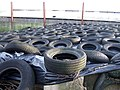 Old tyres on silage clamp - geograph.org.uk - 307550.jpg
