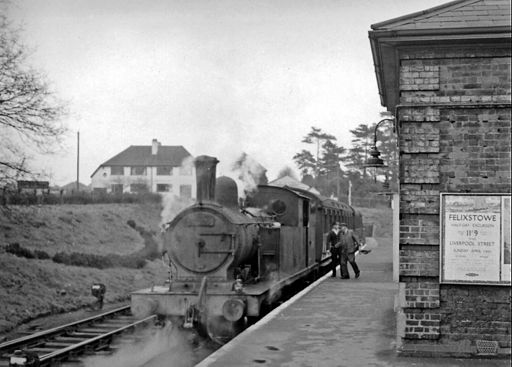 Ongar Station, with push-&-pull train to Epping geograph-2361941-by-Ben-Brooksbank