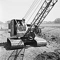 Ontginning, grondbewerking, egaliseren, bezanden, draglines, waterregge, Bestanddeelnr 159-0429.jpg