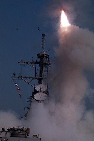 1996 cruise missile strikes on Iraq - Image: Operation Desert Strike Tomahawk cruise missiles launch