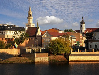 Opole - General view of the Old Town, one of the oldest city ensembles in Poland