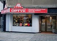 Optician shop at ulica Starowiejska, Gdynia.jpg