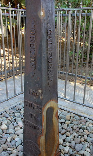 1872 California-Nevada State Boundary Marker - The California side of the marker