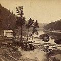 Oregon Portage Railroad - Residence of Jo. Bailey, Esq., O. R. R. Cascades by C. E. Watkins, 1867 (cropped).jpg