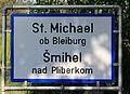 Ortstafel St Michael ob Bleiburg.JPG