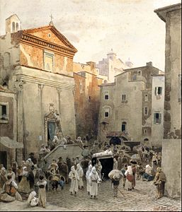 Oswald Achenbach - Funeral in Palestrina - Google Art Project.jpg