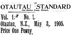 Otautau - Otautau Standard and Wallace County Chronicle (May 1905).