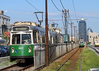 Green Line B branch Boston Massachusetts subway line