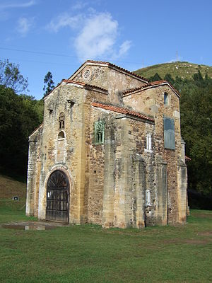 Romanesque architecture in Spain - San Miguel de Lillo Church, example of Asturian art.