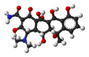 Oxytetracycline - Image: Oxytetracycline 3D balls