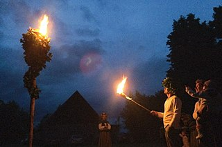 Latvian summer solstice festival