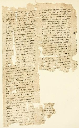 History of the Peloponnesian War - P. Oxy. 16, fragment of a 1st-century manuscript