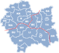 POL województwo małopolskie map partition idea for Wikivoyage.png