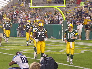 2003 Green Bay Packers season - Packers (including QB Doug Pederson) at their preseason game against Tennessee, August 28, 2003