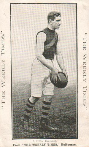 1912 VFL season - Premiership player Paddy Shea