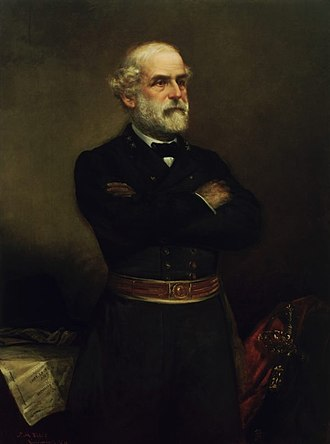 """White Southerners - Confederate general and Lost Cause folklore figure, Robert E. Lee, generally considered the epitome of the """"Southern gentleman"""" and affluent Bourbon planter class."""