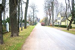 Aušros street near the church