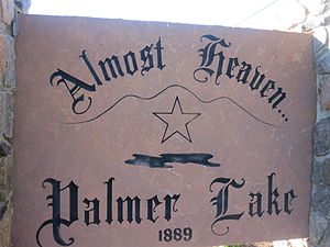 Palmer Lake, Colorado - Image: Palmer Lake, CO, welcome sign IMG 5174