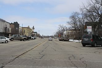 Palmyra, Wisconsin - Looking east at downtown Palmyra